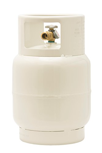 Flame King YSN201BT Steel Floor Buffer Cylinder Propane Tank with Vapor Valve and Level Gauge, 20-Pound