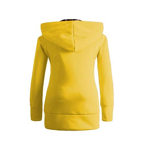 Imprimé Vjgoal Femme Velours Parka Coat Chandail Noir Manteau Jaune Zipper Duffle Plus Chaud Capuche Hiver Léopard qAEnYrBwA