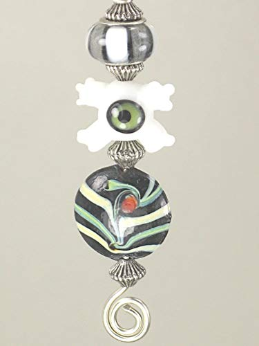 Rear View Mirror Car Accessory/Ornament Wards Off the Evil Eye with the Good Luck Charm in Black/White/Multi Colors ()