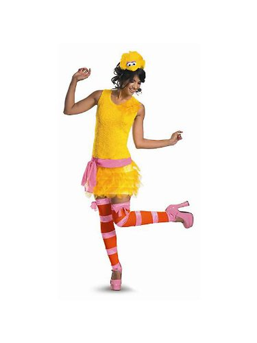 Big Bird Sassy Adult Costume - Large