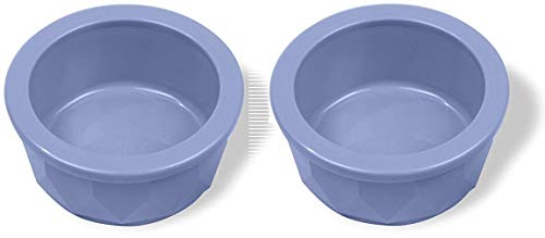 Van Ness Medium Crock - Van Ness Crock Style Dish for Cats/Dogs, Small, Assorted Colors (2 Bowls)