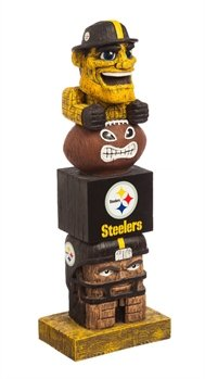 Pittsburgh Steelers Tiki Totem Lawn Garden Statue by Evergreen