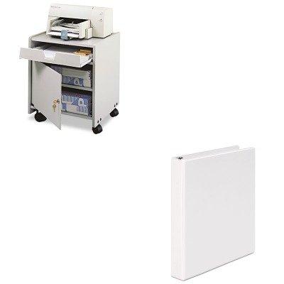 KITSAF1854GRUNV20962 - Value Kit - Safco Office Machine Mobile Floor Stand (SAF1854GR) and Universal Round Ring Economy Vinyl View Binder (UNV20962)