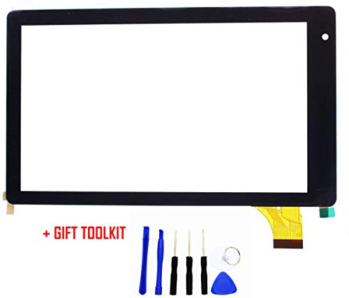 Touch Screen Digitizer Glass Replacement for 7 Inch RCA Voyager Rct6773w22 RCT6773W42B Tablet PC (Camera Eye 2, Black) from GR Touch