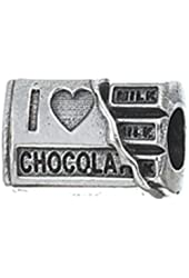 Zable Beads I Love Chocolate Food Drink Sterling Silver European Style Charm