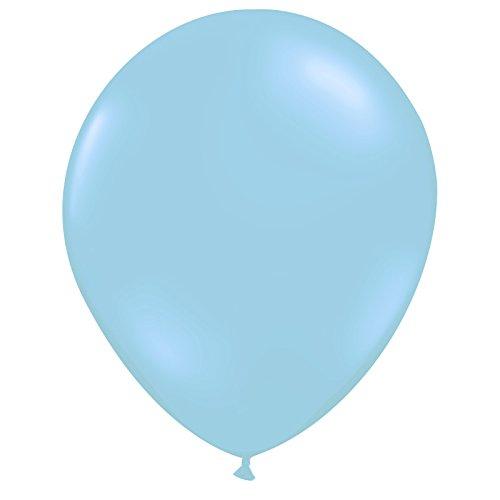 100 light blue balloons - 6