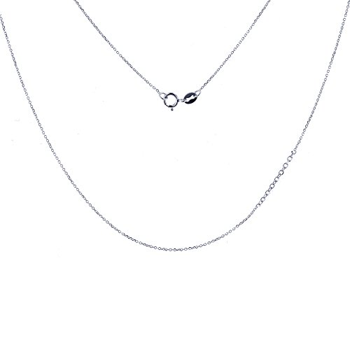 Decadence Sterling Silver Rhodium Plated Diamond Cut Cable 13
