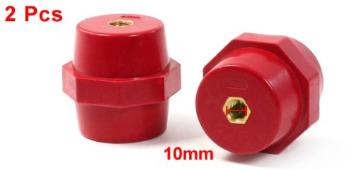 uxcell 2Pcs 10mm Dia 15mm Depth Brass Thread Busbar Insulator Support