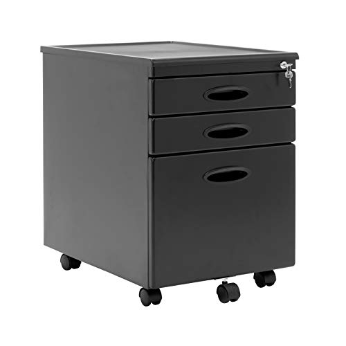 Office File Modular Rolling - Calico Designs 51100BOX  File Cabinet in Black