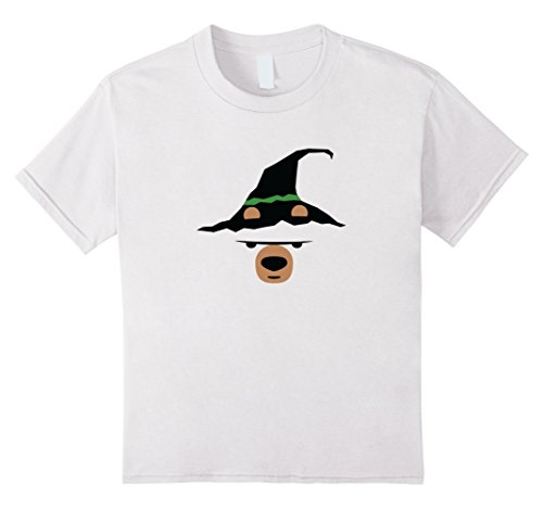 Kids Grumpy Bear - Witch Hat - Funny Halloween Shirt 12 White (White Guy Halloween Ideas)