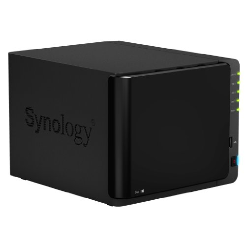 Synology DiskStation 4-Bay (Diskless) Network Attached Storage DS412+ (Black)