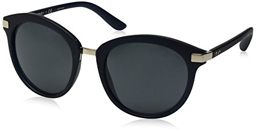 DKNY Women's Injected Woman Round Sunglasses, Blue, 52 mm
