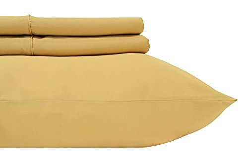 Gold Standard Pillow Set (Royal's Solid Gold 600-Thread-Count 2pc / Pair Standard / Queen Size 20