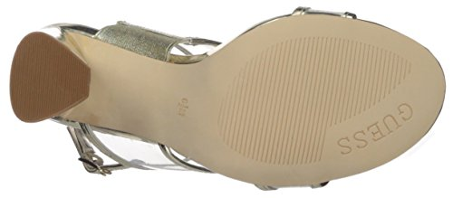 Guess Women's AMIDALA Heeled Sandal Gold IK2UO7