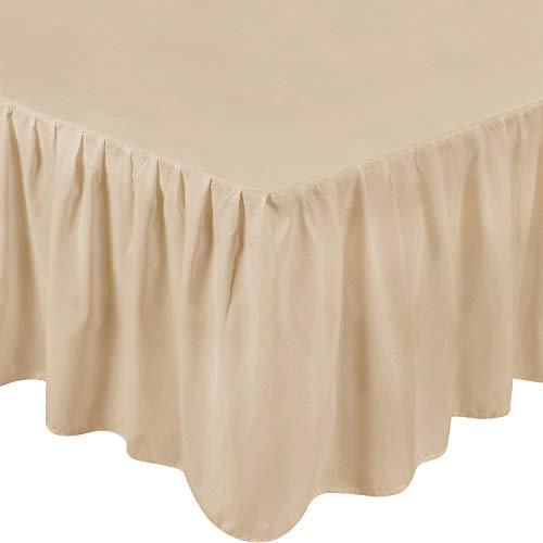 (Utopia Bedding Queen Bed Ruffle Skirt (Beige))