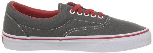 Vans Era, Unisex - Erwachsene Sportschuhe - Skateboarding Grau (Charcoal/Red)