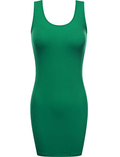 Fifth Parallel Threads FPT Women's Scoop Neck Bodycon Mini Tank Tunic Dress KGREEN 3X-Large