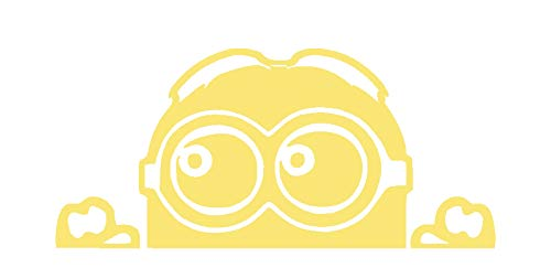 Creative Concepts Ideas Minion Peeking Bright Yellow CCI Decal Vinyl Sticker|Cars Trucks Vans Walls Laptop|Yellow|7.0 x 3.4 -