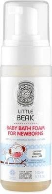NATURA SIBERICA Baby Bath Foam For Newborns - Particularly gentle cleansing care for newborns & babies - Moisturizing Antibacterial & anti-inflammtory - Extremely mild on the skin - 150 ml
