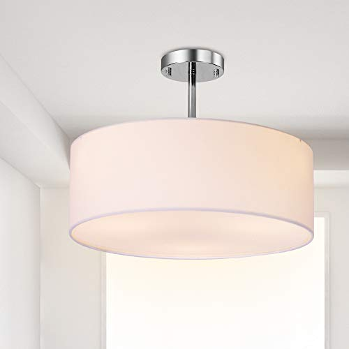 Extra Large White Drum Pendant Light in US - 2