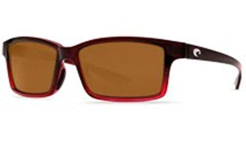 Costa Del Mar Tern Adult Polarized Sunglasses, Pomegranate Fade/Amber 580P, - Polarized Costa Tern Sunglasses