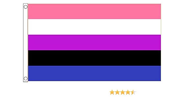 Diamond Design LGBTG Matte Finish LGBTQIA 1\u201dx1\u201d LGBTQIA+ Durable and Waterproof Transgender Pride Flag Sticker