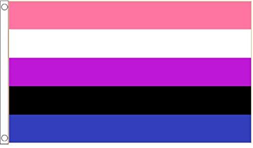 Genderfluid Flag 5'x3'  - Woven Polyester Flag 5'x3'  - Wove