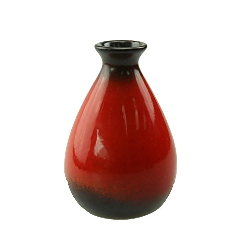 Awesomes Vintage Style Small Ceramic Flower Vase Plant Vase Flowerpot For Home Decoration (red) (3' Ceramic Insert)