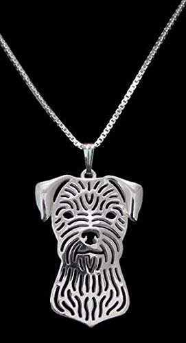 (Border Terrier Pet Necklace Newest Unique Handmade for women girls Dog charm Jewelry Pet Lovers Gift)