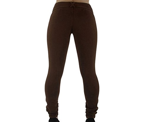 lasticit mince pantalon L Women's Slim Loisirs taille taille Brun Hoverwings Rouge Haute Grande tait xXv1nw