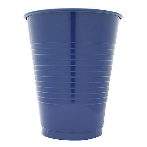 12 oz Navy Blue Plastic Cups, 20 Pack