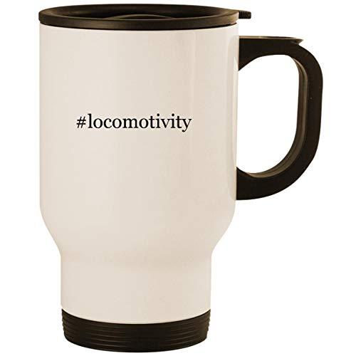 #locomotivity - Stainless Steel 14oz Road Ready Travel Mug, White