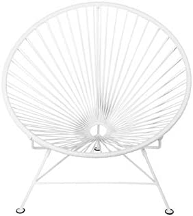 Innit Designs Innit Chair, White Weave on White Frame