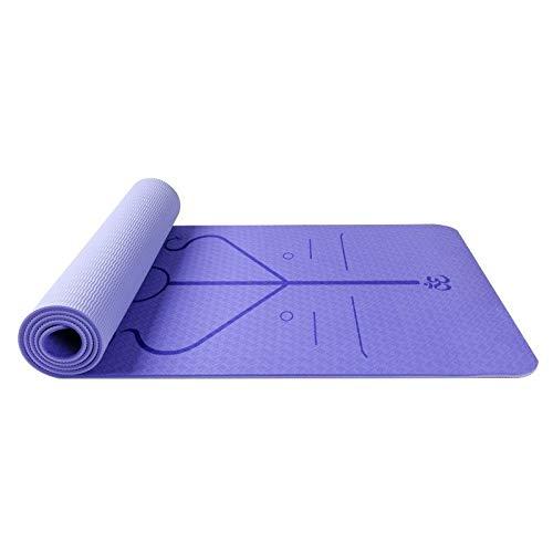 Esterillas de Yoga TPE de Dos Colores con línea de posición ...
