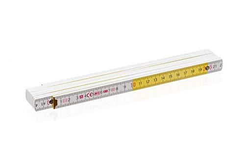 50x Zollstock weiss-gelb Gliederma/ßstab Ma/ßstab Meterstab - 2m B-Ware