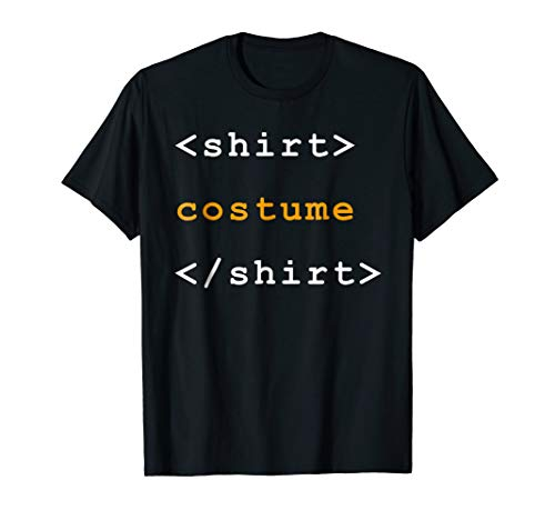 HTML Tags Clever Halloween Costume Funny Tshirt