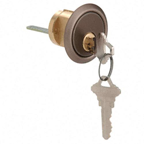 CRL Dark Bronze Rim Cylinder 5 Pin with Keyed Different Schlage - Cylinder 5 Pin Rim