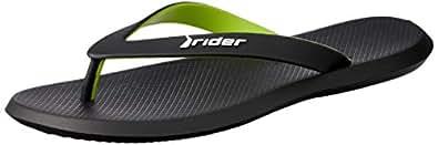 rider Men's R1 Ad Shoes, Black/Black/Green, 41 EU