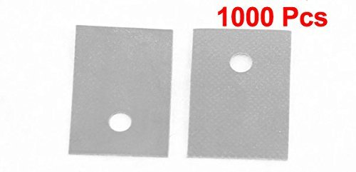 eDealMax a15082600ux0170 TO-220 Silicone Pad thermique Conduction CPU Sheet Chip Dissipateur, 1000 Piece, 20 mm x 13 mm