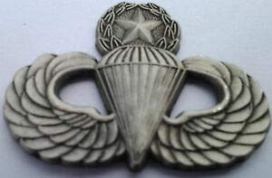 Quality Handcrafts - Army Airborne Paratrooper Master Wings Military Veteran Pewter Hat Pin - Accessories for Clothes Decoration