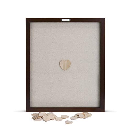DEMDACO Loving Hearts Guest Book Large 22 x 18 Wood Framed Wall Art Plaque (Drop Frame)