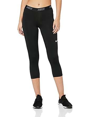 Nike Women's Victory 3/4 Length Tight 889596-011, Black/Black/White, S