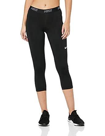 Nike Women's Victory 3/4 Length Tight 889596-011, Black/Black/White, XS