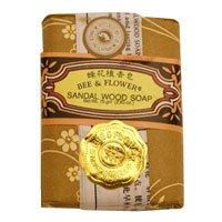 Flower Sandalwood Soap - Bar Soap Sandalwood, 4.4 oz by BEE & FLOWER SOAP (Pack of 2)