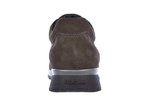 Hogan zapatos zapatillas de deporte hombres en piel nuevo elective athletic gris