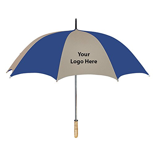 60 Inch Arc Golf Umbrella - 25 Quantity - $11.19 Each - PROMOTIONAL PRODUCT / BULK / BRANDED with YOUR LOGO / CUSTOMIZED by Sunrise Identity