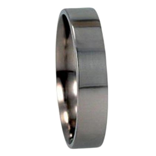 Flat Profile 5mm Comfort-Fit Titanium Wedding Band, Size 6.25 by The Men's Jewelry Store (Unisex Jewelry)