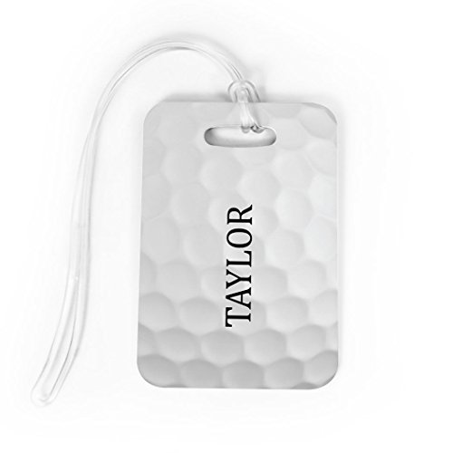 Golf Luggage & Bag Tag | Personalized Golf Ball Graphic | Standard Lines on Back | MEDIUM