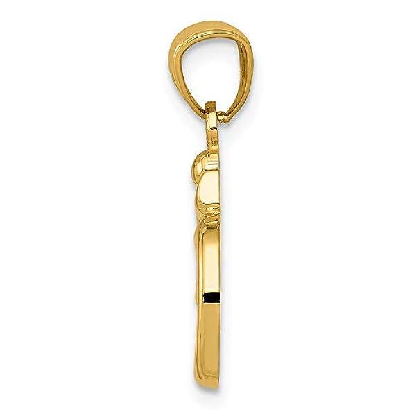 14K oro giallo lucido Om simbolo Ciondolo