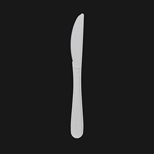 CiboWares Heavyweight and Disposable White Knives, Package of 100 by CiboWares